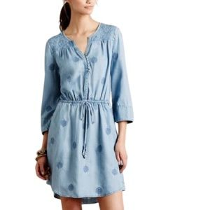 Anthropologie Holding Horses Riley Chambray Dress